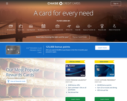Chase Credit Cards Logo
