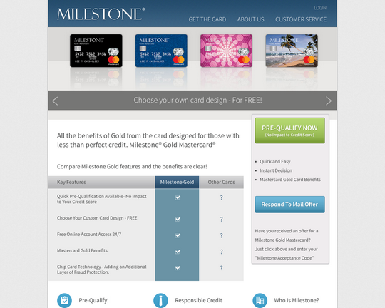 Milestone Gold Card Logo